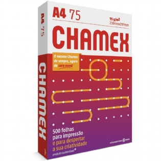 PAPEL A4 CHAMEX - 75GRS